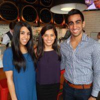 Aleesha Esmail, left, Sabrina Ladha and Raheem Esmail.