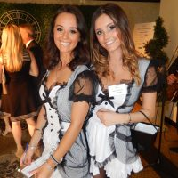 French maid volunteers Steffany Schulhof, left, and Katie Delesalle.