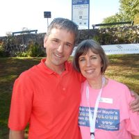 British Pacific Properties sponsor Geoff Croll with West Vancouver Foundation chair Nancy Farran.