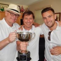 Cup champions for 2016 - Mitch Foster, left, Mark Sager and Brett Thorburn