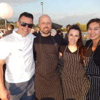 Steve Hodge of Temper with fellow pastry chefs Ross Alexander, Haley Landa and Jen Tuley.