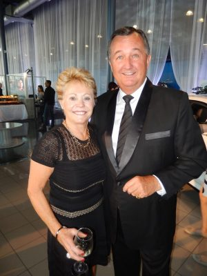 Looking glam - Dueck dealer Moray Keith and wife Pam
