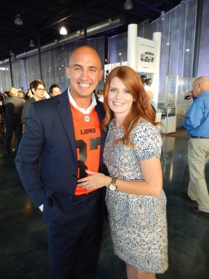 Performing MC duties is Marco Iannuzzi, seen here with wife Jennifer