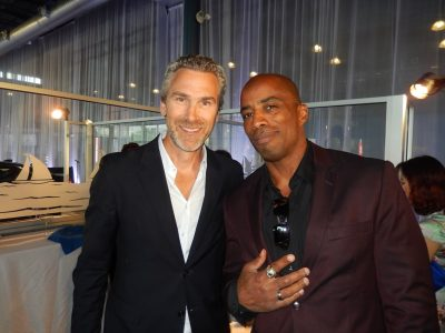Hockey and football - sports heroes Trevor Linden and Grey Cup champ Sean Millington