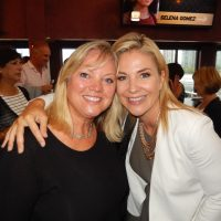 Former Global TV reporter Catherine Pope, left, with news anchor Robin Stickley