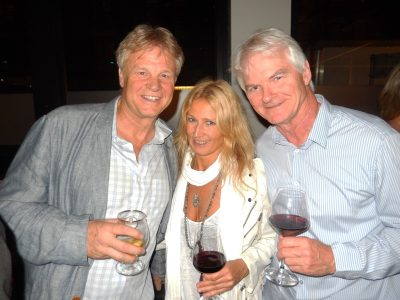 Neal Clarence, left, with fashion designer Anna Kosturova and Peter Leitch, president North Shore Studios / Mammoth Studios