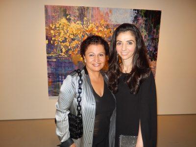 Guests Saeedeh Salem, left, and Naz Panahi