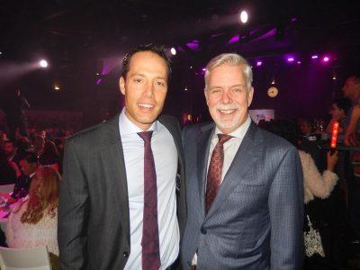 Dr Evan Wood, left, medical program director addictions with Dr Bill MacEwan, head of psychiatry.