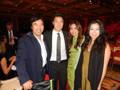 Graham Lee, left, with son Alexander, wife Angela and daughter Michelle