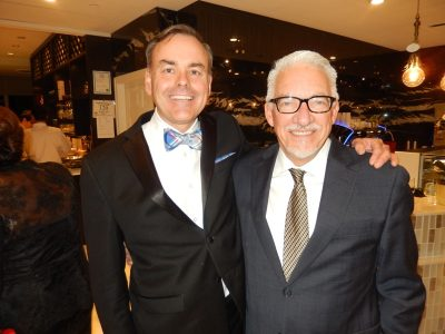Dr. Allan Burgmann, left, with Pierre Lebel LGH  Foundation chair