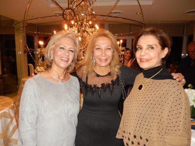 Shahla Jobani, left, with Clara Agopian and Nossi  Salimian