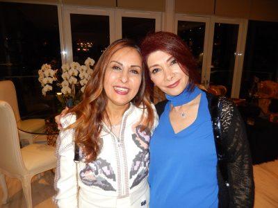 Mansoureh Amindarolzarbi, left, and Saloumeh Modabber