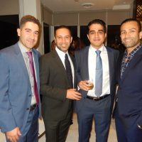 Pourang Taheri, from left, Arash Asli, Reza Kohan and Houman Rounaghi