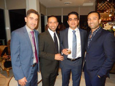 Pourang Taheri, from left, Arash Asli, Reza Kohan and Houman Rounaghi