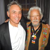 Delta Land Development's Bruce Langereis, left, with esteemed VIP guest Dr. David Suzuki.