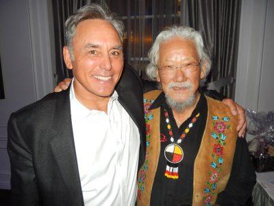 Delta Land Development's Bruce Langereis, left, with esteemed VIP guest Dr. David Suzuki.