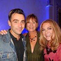Jacob Hoggard, of Hedley fame, joins host Denise Donlon, centre and Olympic skier Karen Percy Lowe.