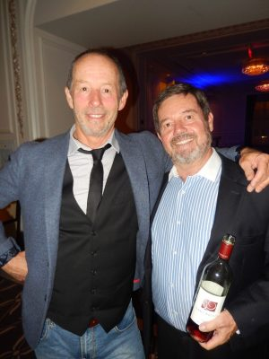 Musician Barney Bentall, left, with wine sponsor Paul Martin.