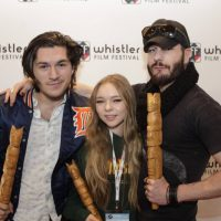 Actors Charlie Kerr, left,  Taylor Hickson and Michael Eklund were recognized as Stars to Watch.