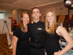 Volunteers Lyndsey Chauhan, left, Cole Salomon and Megan Witham-Carroll.
