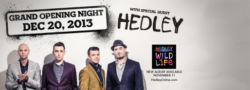 Hedley at Hard Rock Casino Grand Opening Vancouver