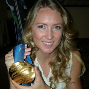Olympian Ashleigh McIvor at West Vancouver Otters Awards