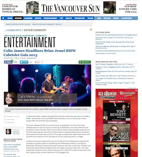 Vancouver Sun Edition of Cat's meow